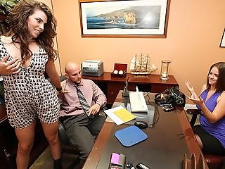 Threesome,Secretary,Blowjob