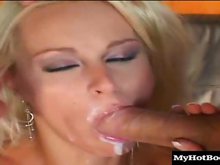 Double Penetration,Cumshot,Facial,Hardcore,Threesome,Blonde,Blowjob,Close-up