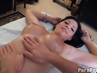 Massage,Big Boobs,Big Ass,Brunette,Close-up,Hardcore,Nipples,Oiled,Doggystyle,Fake,Couple