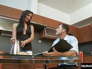 Slim beauty Nataly enjoys having a thick shaft deep inside of her twat