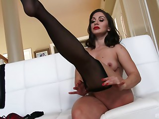 Nylon,Pornstar,Couple,Black and Ebony,Brunette,Hardcore,Stockings