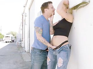 Couple,Beautiful,Hardcore,Reality,Tattoo,Jeans,Blonde