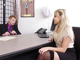 Reality,Secretary,Couple,Office,Blonde,Hardcore