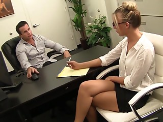 Secretary,Blonde,Hardcore,Office,Reality,Couple