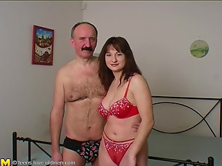 Old and young,Panties,Couple,Brunette,Hardcore,Lingerie,Mature,Teen