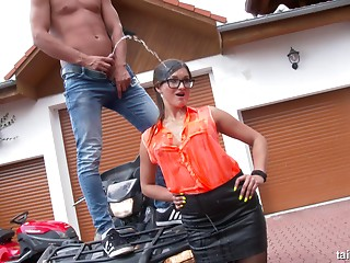 Pissing,Outdoor,Reality,Glasses,Car Sex,Fetish,Brunette,Hardcore,Pornstar,Couple