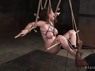 Bootylicious Samsara is getting some vibrations in her bondage session