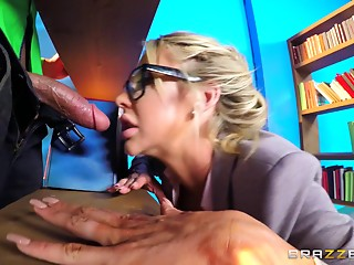 MILF,Babe,Blonde,Blowjob,Glasses,Hardcore,Pornstar,Couple