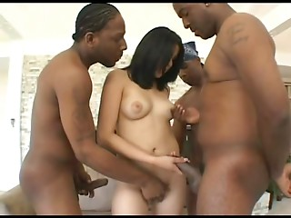 Gangbang,Black and Ebony,Brunette,Hardcore,Interracial,Natural