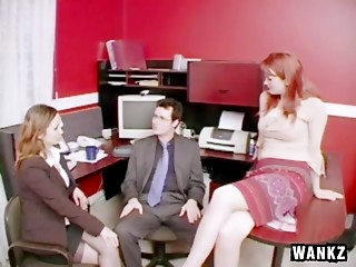 Office,CFNM,Blowjob,Hardcore,Reality,Threesome