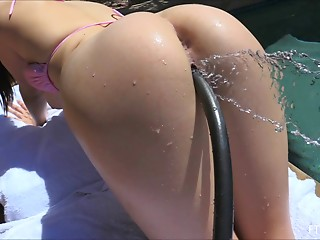 Close-up,Outdoor,Fisting,Anal,Pool,Solo