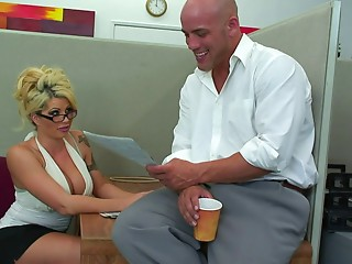 Secretary,Office,Blonde,Hardcore,Slut,Couple