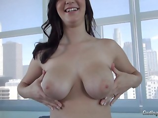 Casting,Natural,Couple,Big Boobs,Brunette,Hardcore,Doggystyle