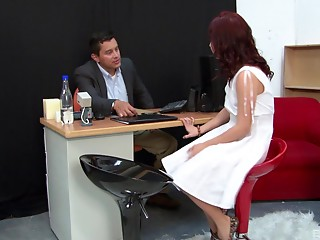Office,Babe,Hardcore,Reality,Redhead,Couple,Anal