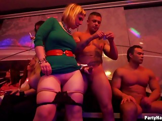 Breathtaking senoritas riding rock-solid cocks in the nightclub