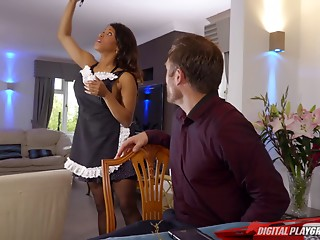 Maid,Hardcore,Interracial,Secretary,Uniform,Couple,Black and Ebony