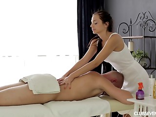 Massage,Oiled,Babe,Brunette,Hardcore,Russian,Couple
