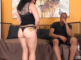 Interracial,Tattoo,Couple,Bikini,Brunette,Cumshot,Hardcore,Lingerie,Pornstar