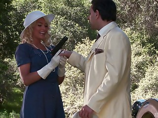 Vintage,Dress,Blonde,Hardcore,Outdoor,Pornstar,Car Sex,Couple