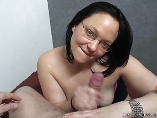 Glasses,MILF,Chubby,Handjob,Hardcore,Couple,Amateur,Brunette