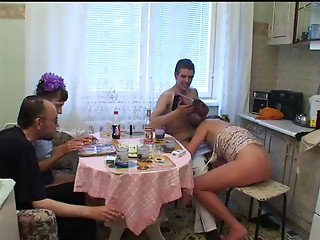 Russian,Drunk,Amateur,Brunette,Group Sex,Hardcore,Kitchen,Swingers,Wet