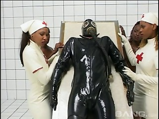 Masked,Black and Ebony,Fetish,Hardcore,Latex,Nurse,Uniform