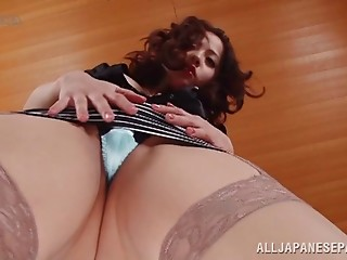 Stockings,Close-up,Hairy,Nylon,Pornstar,Upskirt,Solo,Asian
