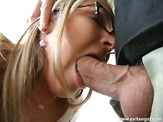 Glasses,Couple,Blonde,Blowjob,Hardcore,Doggystyle