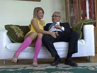 Old and young,Nylon,Teen,Blonde,Blowjob,Cumshot,Handjob,Hardcore,Mature,Socks,Couple,Amateur