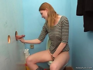 Gloryhole,Redhead,Bathroom,Amateur,Blowjob,Handjob,Hardcore,Reality