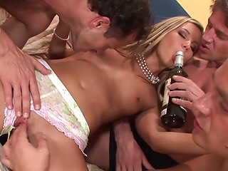 Drunk,Babe,Fingering,Gangbang,Group Sex,Hardcore,Panties,Small Tits,Couple