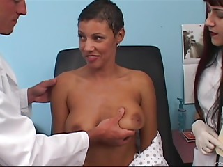 Doctor,Office,MILF,Natural,Big Boobs,Big Cock,Blowjob,Brunette,Hardcore