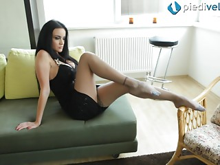 Dress,Pantyhose,Strip,Fetish,Amateur,Brunette,Foot Fetish,Hardcore,Panties,Solo