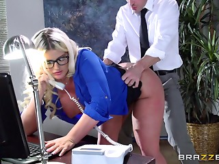 Office,Pornstar,Secretary,Ass to Mouth,Glasses,Blonde,Hardcore,Reality,Couple