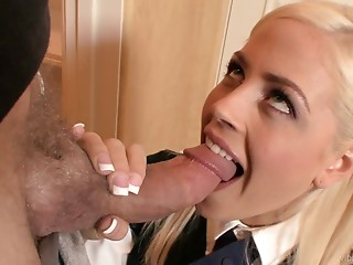 Handjob,Blonde,Blowjob,Hardcore,Reality,Uniform,Couple