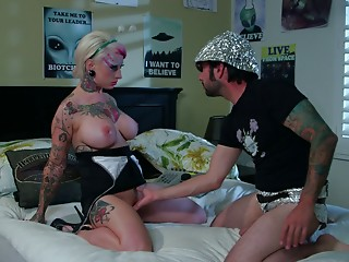 Fingering,Natural,Couple,Babe,Big Boobs,Blonde,Hardcore,Tattoo