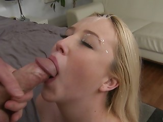 Blonde,Blowjob,Cumshot,Facial,Hardcore,Lingerie,Panties,POV,Strip,Couple