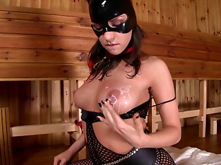 Masked,Latex,Solo,Masturbation,Big Boobs,Brunette,Fetish,Hardcore,Lingerie,Pornstar,Sex Toys