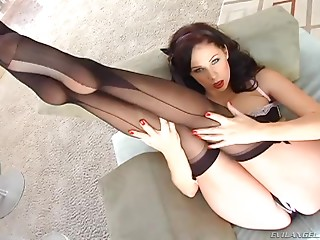 Nylon,Pornstar,Brunette,Hardcore,Lingerie,Stockings