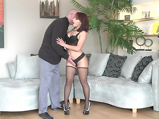 Panties,Nylon,Brunette,Hardcore,Lingerie,Redhead,Stockings,Couple