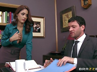 Office,Babe,Big Boobs,Brunette,Hardcore,Pornstar,Reality,Car Sex,Couple