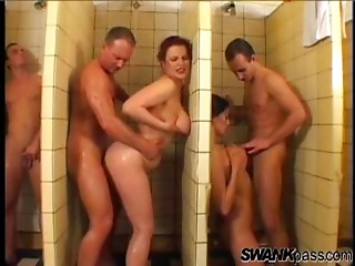 Shower,Titfuck,Group Sex,Hardcore,Doggystyle