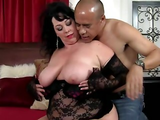 BBW,Big Boobs,Interracial,Lingerie,Nipples,Reality,Natural,Couple,Brunette,Chubby,Hardcore