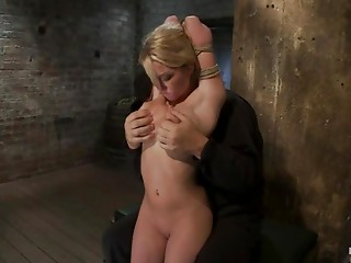 Bondage video with Madison Scott getting hog tied