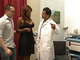 Doctor,Black and Ebony,Double Penetration,Hardcore,Interracial,Reality,Redhead,Threesome,Uniform