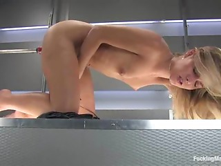 Machine,Fetish,BDSM,Blonde