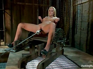 Machine,Babe,Blonde,BDSM