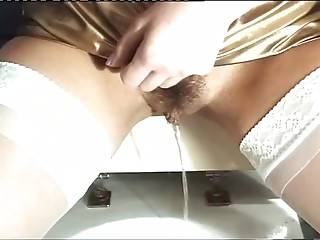 Pissing,Lingerie,Nylon,Blonde,Hardcore,Stockings,Upskirt,Vintage
