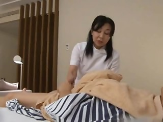 Mature Nurse Sucks a Dick And Jerks A Patient Off