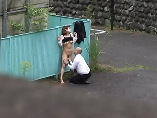 Caught,Public Nudity,Asian,Hardcore,Outdoor,Reality,Voyeur,Couple